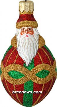 Miniature Faberge Santa