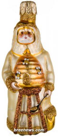 Miniature Beeskeeping Santa