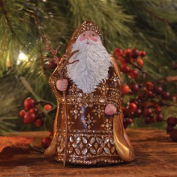 Grande Santa Sculpture…. Historical Christmas Barn