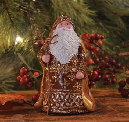 Grande Santa Sculpture…. Historical Christmas Barn – breenews