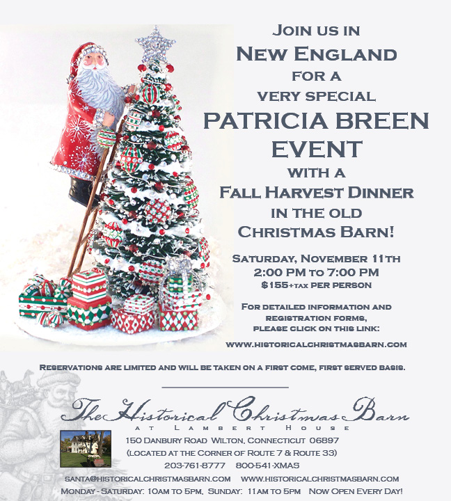 Fall Event…. Historical Christmas Barn – breenews