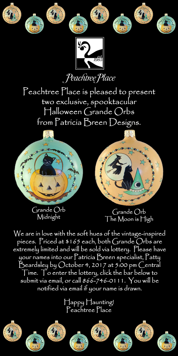 Grande Orbs, Halloween…. Peachtree Place