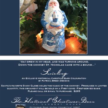 Swirling, Blue…. Historical Christmas Barn