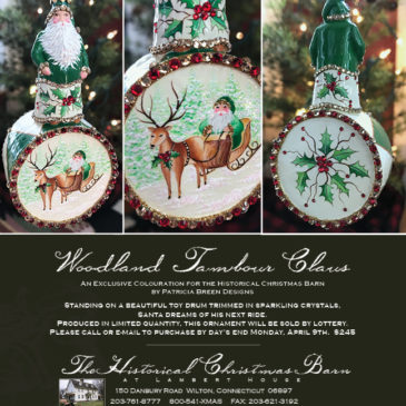 Tambour Claus, Woodland…. Historical Christmas Barn