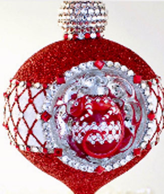 Christmas at the Zoo…. Anniversary Reflector, Red Glitter