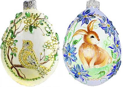 Milaegers…Bijoux Bird – Soleil & Clematis Azure Grande Surprise Eggs