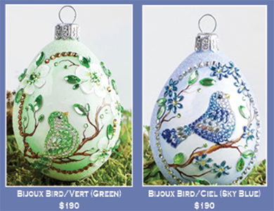 Historical Christmas Barn…2 Bijoux Bird Eggs Exclusives